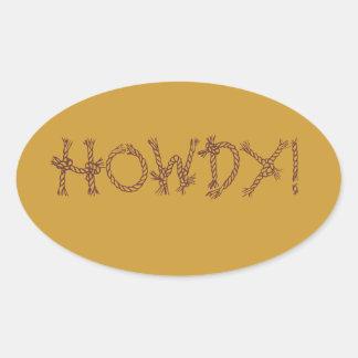 ¡Howdy! Calcomanías Ovales Personalizadas