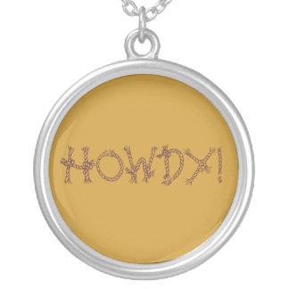 Howdy! Round Pendant Necklace