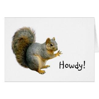 Howdy Squirrel Card