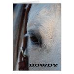 Howdy tarjeta de felicitación del caballo