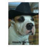 Howdy tarjeta de felicitación del socio