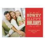 Howdy tarjetas de Navidad occidentales