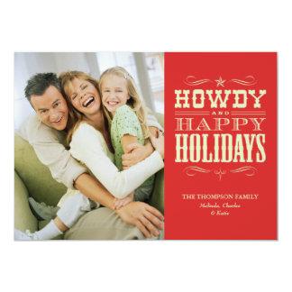 Howdy tarjetas de Navidad occidentales Invitación 12,7 X 17,8 Cm