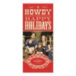 Howdy tarjetas occidentales de la foto del navidad invitacion personalizada