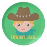 Howdy, vaquero lindo, para los muchachos platos