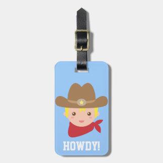 Howdy, vaquero lindo para los niños pequeños etiquetas bolsas