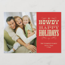 Howdy Western Christmas Cards