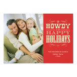 Howdy Western Christmas Cards Invite