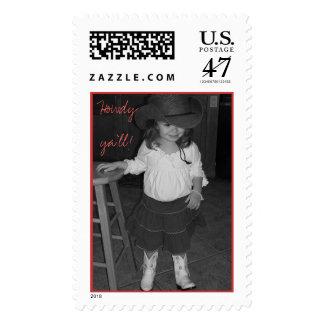 Howdy ya'll! postage