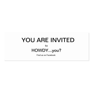 HOWDY...you? spread the Howdy Cards Double-Sided Mini Business Cards (Pack Of 20)