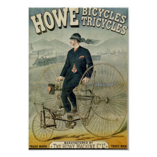 Howe Bicycles Tricylces Poster