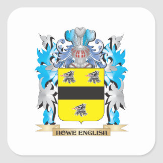 Howe-English Coat of Arms - Family Crest Square Sticker