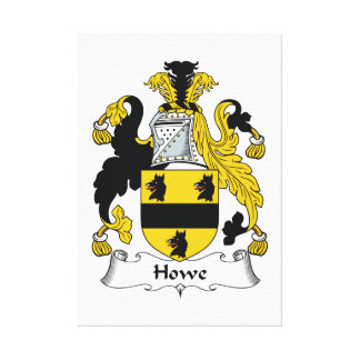 Howe Family Crest Stretched Canvas Prints