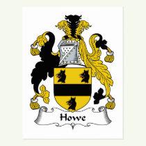 Howe Family Crest Postcard