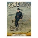 Howe monta en bicicleta Tricylces Poster