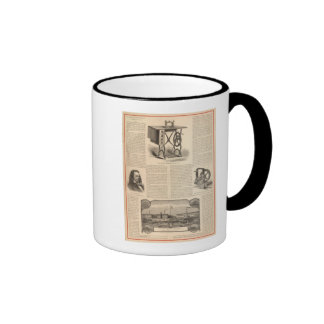 Howe Sewing Maching with Sketch of the Inventor Coffee Mug