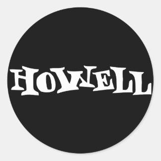 Howell - blanco pegatina redonda