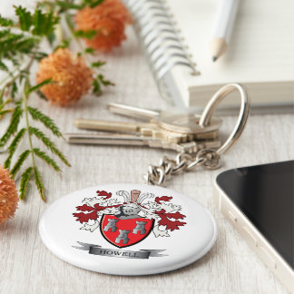 Howell Family Crest Coat of Arms Keychain