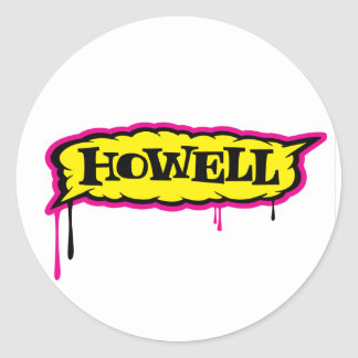 Howell Logo Classic Round Sticker