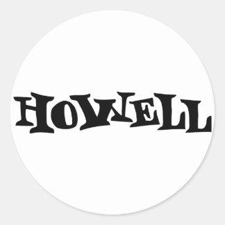 Howell Pegatina Redonda