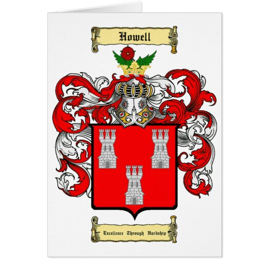 Howell (wales) card