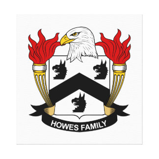 Howes Family Crest Stretched Canvas Print