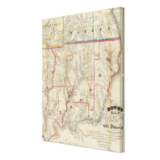 Howe's Map of The Oil District of Pennsylvania Gallery Wrap Canvas