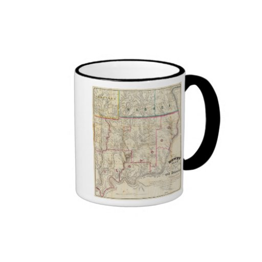 Howe's Map of The Oil District of Pennsylvania Ringer Mug