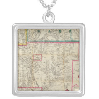 Howe's Map of The Oil District of Pennsylvania Silver Plated Necklace