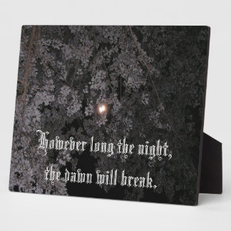 However Long the Night Plaque