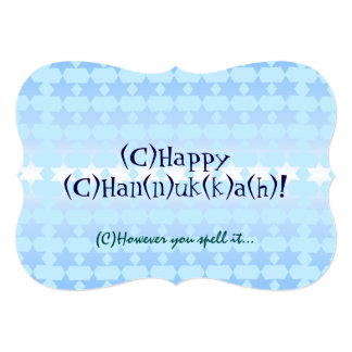 However You Spell Chanukah Card