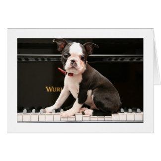 Howie en el piano tarjeta de felicitación
