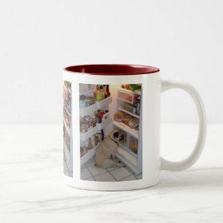 Howie Pee Pugpants Two-Tone Coffee Mug