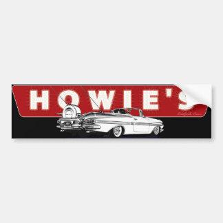 Howie's Drive-In Stratford CT Car Bumper Sticker