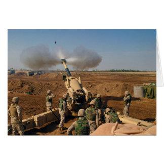 Howitzer Gun Crew United States Marine Corps Greeting Card