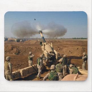 Howitzer Gun Crew United States Marine Corps Mouse Pad