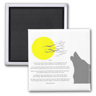 Howl 2 Inch Square Magnet