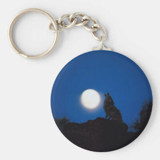 Howl At Full Moon Key Chains