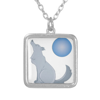 Howl At Moon Square Pendant Necklace