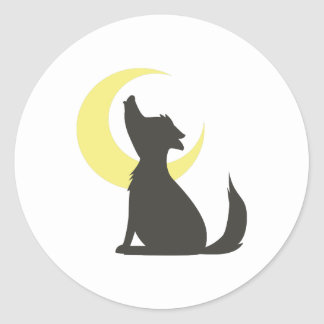Howl At Moon Classic Round Sticker