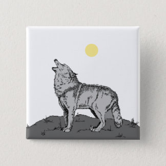 Howl At the Moon 2 Pinback Button