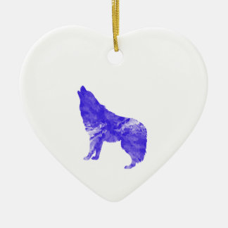 Howl at the Moon Ceramic Ornament