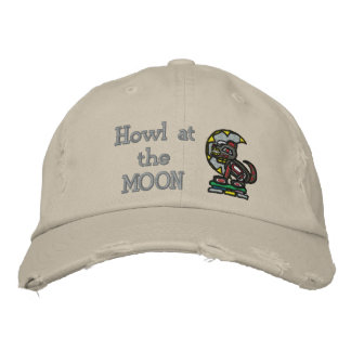 Howl at the MOON Embroidered Baseball Cap
