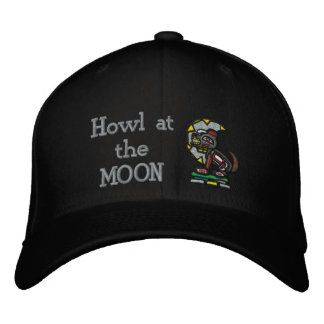 Howl at the MOON Embroidered Hats