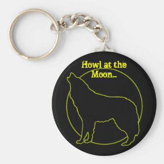 Howl at the moon keychain