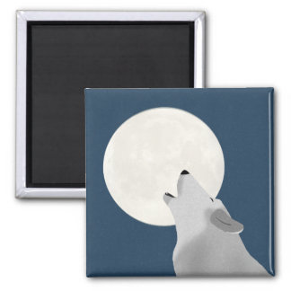 Howl At The Moon Square Magnet