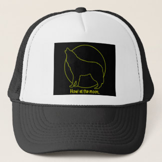 Howl at the moon... trucker hat