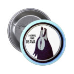 Howl for Obama Button