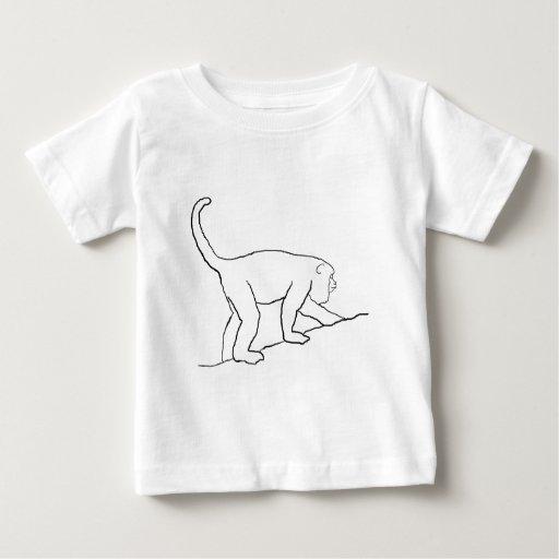 Howler Monkey, Walking. Baby T-Shirt
