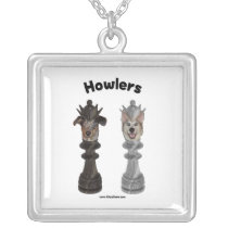 Howlers Chess Dogs Custom Necklace